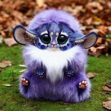 Inari Fox: Purple-blue shaman